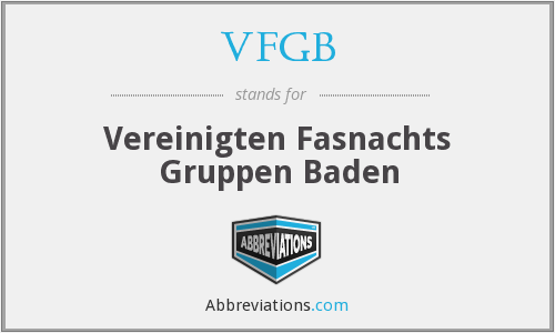 What does VFGB stand for?