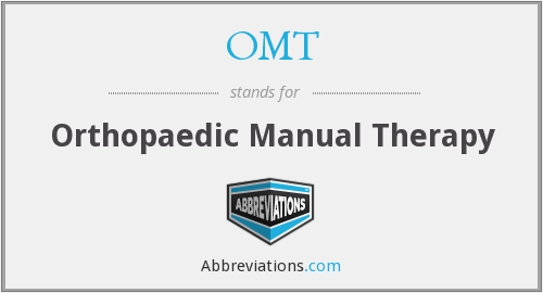 OMT - Orthopaedic Manual Therapy