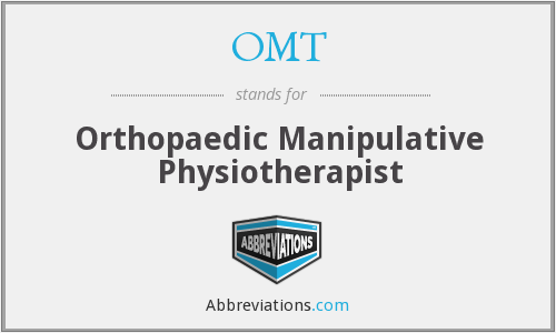 OMT - Orthopaedic Manipulative Physiotherapist