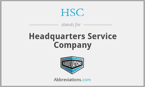 HSC - Headquarters Service Company