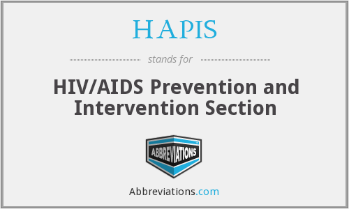 HAPIS - HIV/AIDS Prevention and Intervention Section