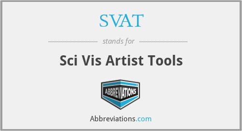 SVAT - Sci Vis Artist Tools