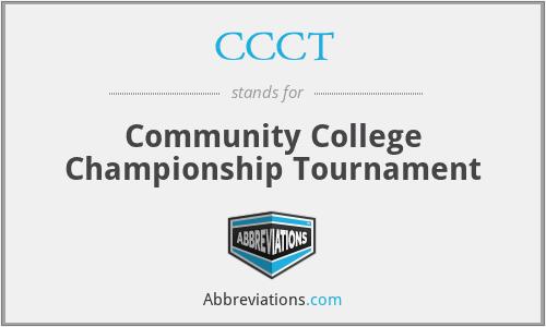 CCCT - Community College Championship Tournament