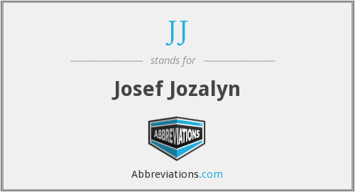 JJ - Josef Jozalyn