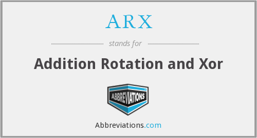 What does ARX stand for?
