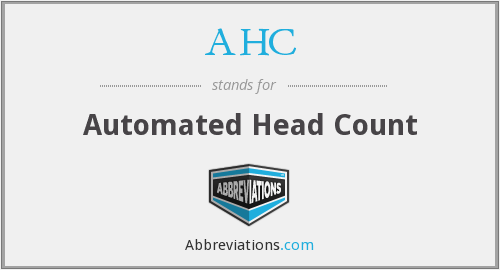 AHC - Automated Head Count