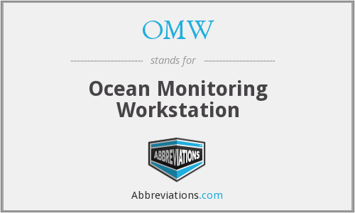 OMW - Ocean Monitoring Workstation