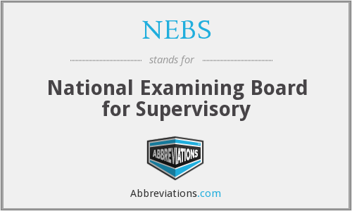 NEBS - National Examining Board for Supervisory