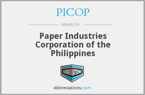 What does PICOP stand for?