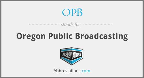OPB - Oregon Public Broadcasting