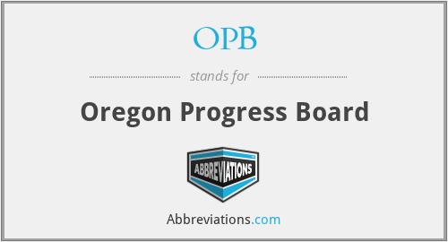 OPB - Oregon Progress Board