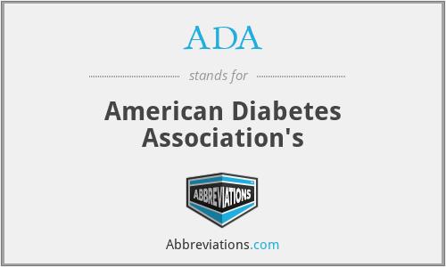 ADA - American Diabetes Association's