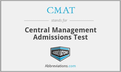 CMAT - Central Management Admissions Test