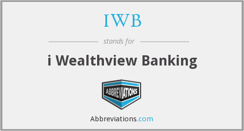 What does IWB stand for?
