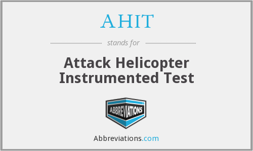 What does AHIT stand for?