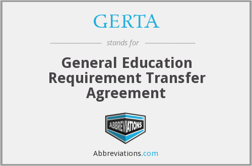 What does GERTA stand for?