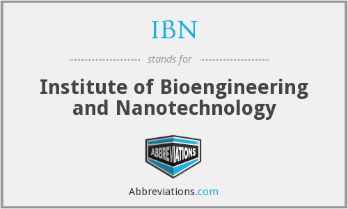 IBN - Institute of Bioengineering and Nanotechnology
