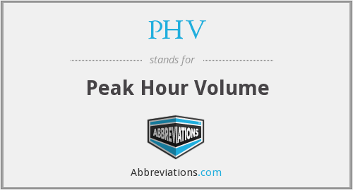 PHV - Peak Hour Volume