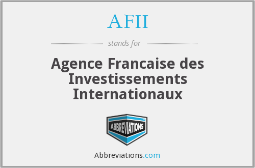 What does AFII stand for?
