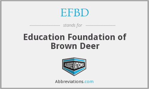 What does EFBD stand for?