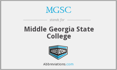 What does MGSC stand for?