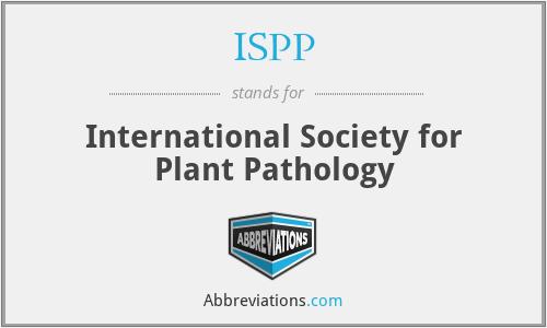 ISPP - International Society for Plant Pathology