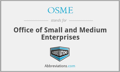 OSME - Office of Small and Medium Enterprises