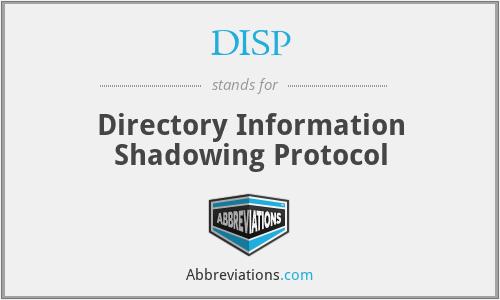 DISP - Directory Information Shadowing Protocol