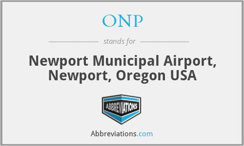 ONP - Newport Municipal Airport, Newport, Oregon USA