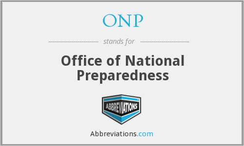 ONP - Office of National Preparedness