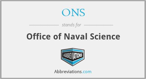 ONS - Office of Naval Science