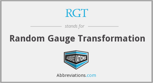 What does RGT stand for?