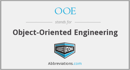 OOE - Object-Oriented Engineering