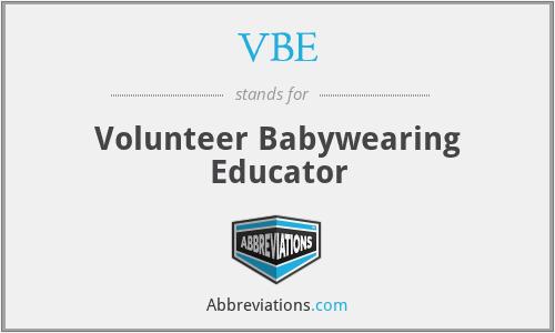 VBE - Volunteer Babywearing Educator