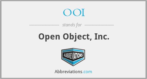 OOI - Open Object, Inc.