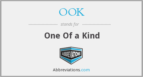 OOK - One Of a Kind