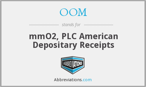 OOM - mmO2, PLC American Depositary Receipts