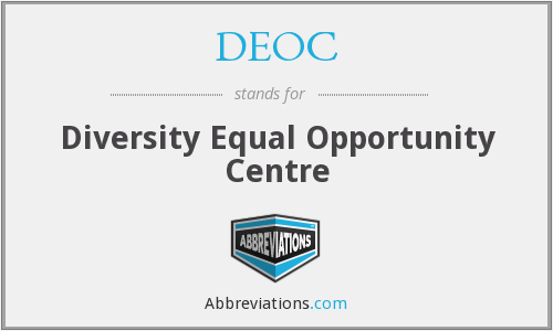 DEOC - Diversity Equal Opportunity Centre