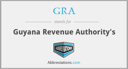 GRA - Guyana Revenue Authority's