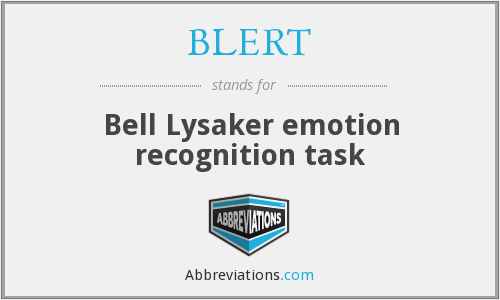 What does BLERT stand for?