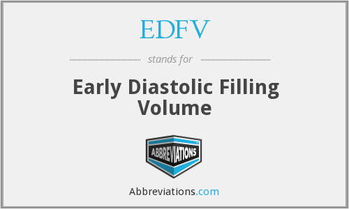 What does EDFV stand for?