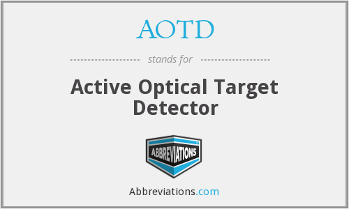 AOTD - Active Optical Target Detector