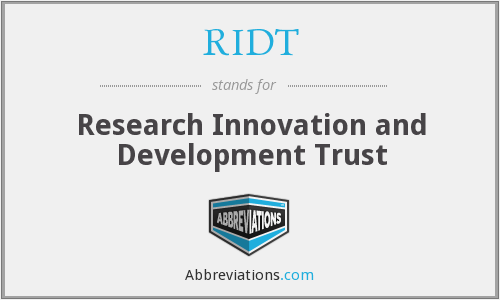 What does RIDT stand for?