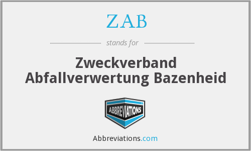 ZAB - Zweckverband Abfallverwertung Bazenheid