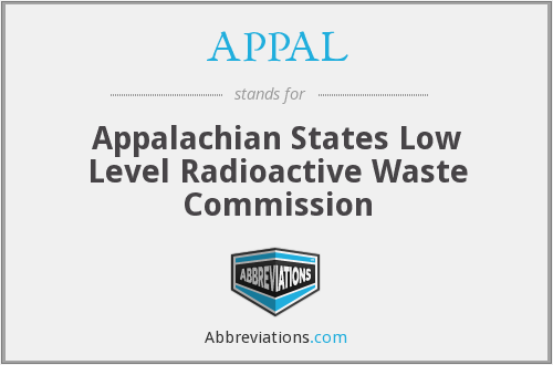 APPAL - Appalachian States Low Level Radioactive Waste Commission