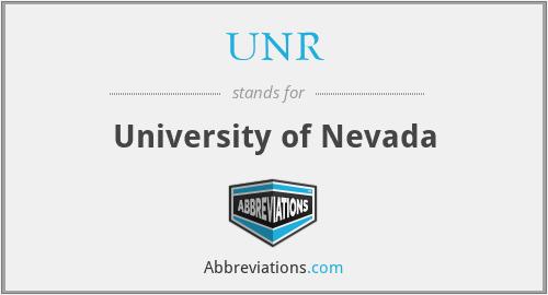 UNR - University of Nevada