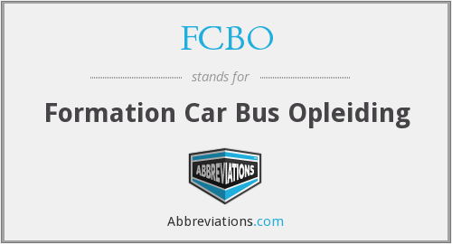 What does FCBO stand for?