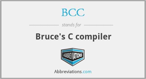 BCC - Bruce's C compiler