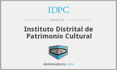 IDPC - Instituto Distrital de Patrimonio Cultural