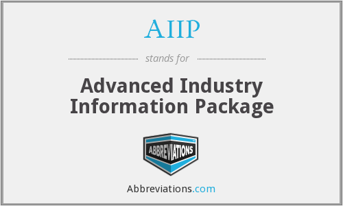 What does AIIP stand for?